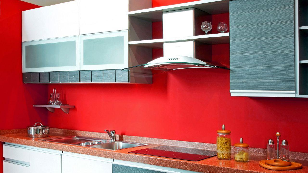 Decoración de cocinas en color rojo - Menos es más