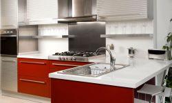 Cocinas de color rojo