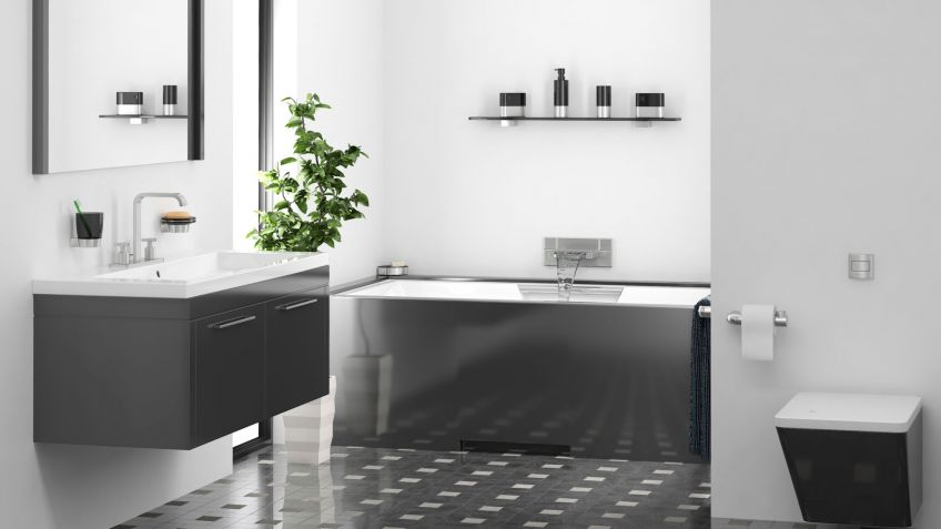 Ideas para decorar el baño en color negro - Tono más claro