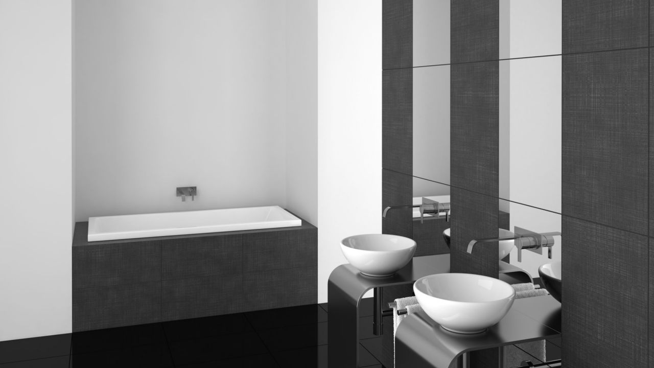 Ideas para decorar el baño en color negro - Estilo moderno