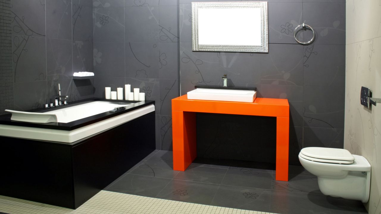 Ideas para decorar el baño en color negro - Paredes