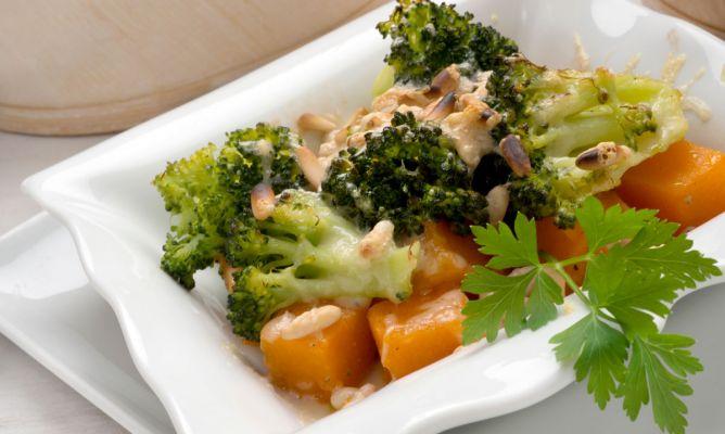Receta de Brócoli con calabaza al horno - Karlos Arguiñano