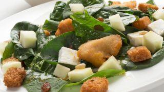 receta de ensalada de espinacas y peras