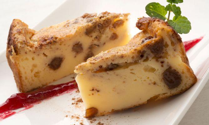 Receta de bizcocho o pudin de yogur con pasas eva argui ano for Cocina con sergio bizcocho