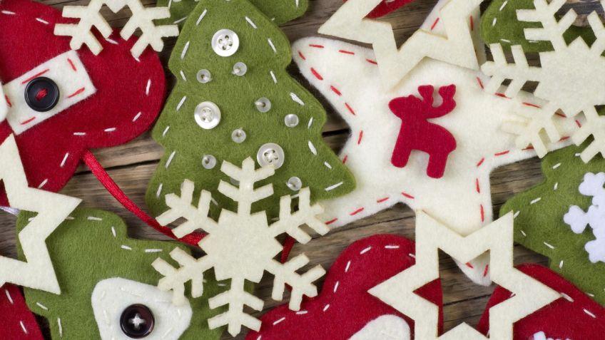 Adornos De Navidad De Fieltro Faciles De Hacer Hogarmania - Decoracion-navidea-facil-de-hacer