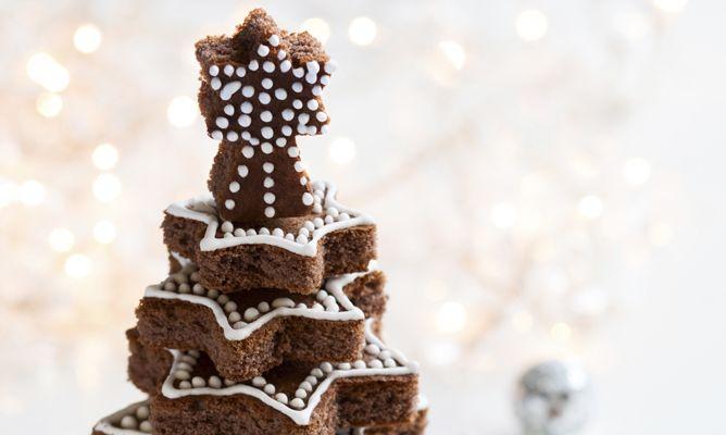receta de bizcocho de chocolate con forma de rbol de navidad