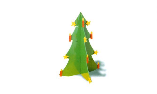 Rbol de navidad desmontable de madera bricoman a - Arboles de navidad de madera ...