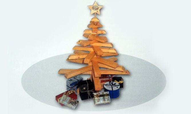 hacer un rbol de navidad de madera