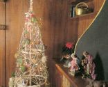 Árbol de Navidad de mimbre