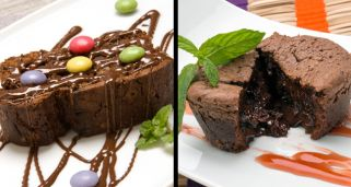 Brownie y Coulant de chocolate