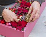 Paso 3 - Crear un centro de mesa con una caja reciclada para Navidad