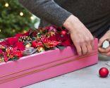 Paso 5 - crear un centro de mesa con una caja reciclada para navidad