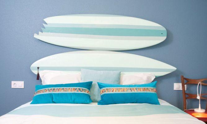 Hacer un cabecero con tablas de surf decogarden - Cabecero de tablas ...