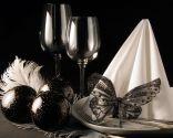 Decoración navideña en color negro