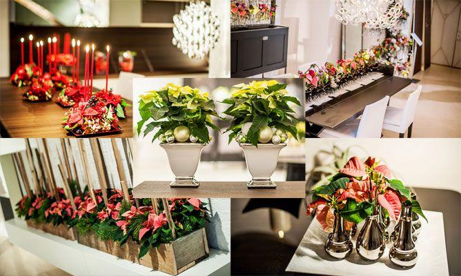 Decoraciones navide as con flor de pascua hogarmania for Decoraciones navidenas para la casa
