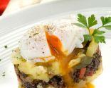 Huevo con patata y morcilla