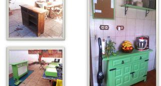 Mueble auxiliar de cocina estilo provenzal - Hogarmania