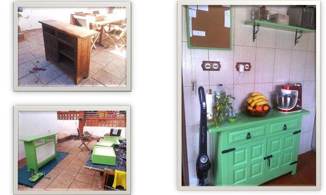 Mueble auxiliar de cocina estilo provenzal hogarmania for Mueble auxiliar cocina conforama