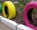 Convertir neumático en contenedor para el jardín