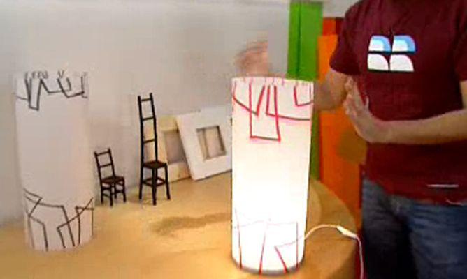 Hacer una lámpara tubo de pergamino  Hogarmania