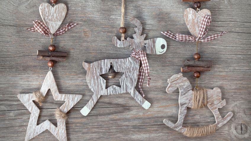 Crear adornos de madera Hogarmania
