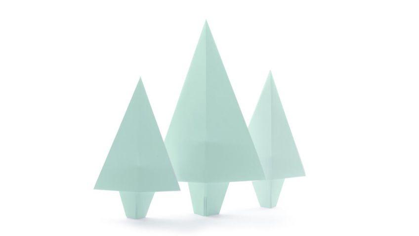 cmo hacer rboles de navidad de papel