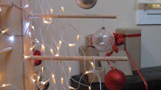 Árbol navideño de madera