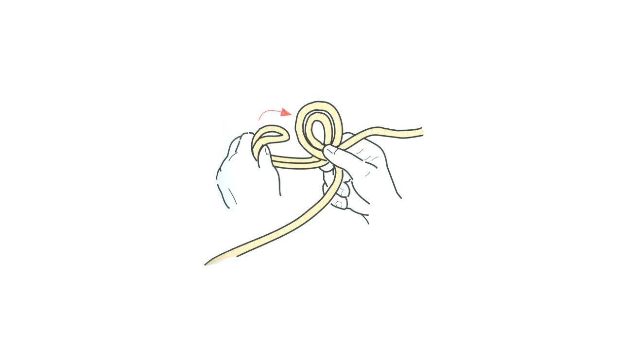 Cómo hacer un nudo para la cuerda de tender la ropa - Paso 1