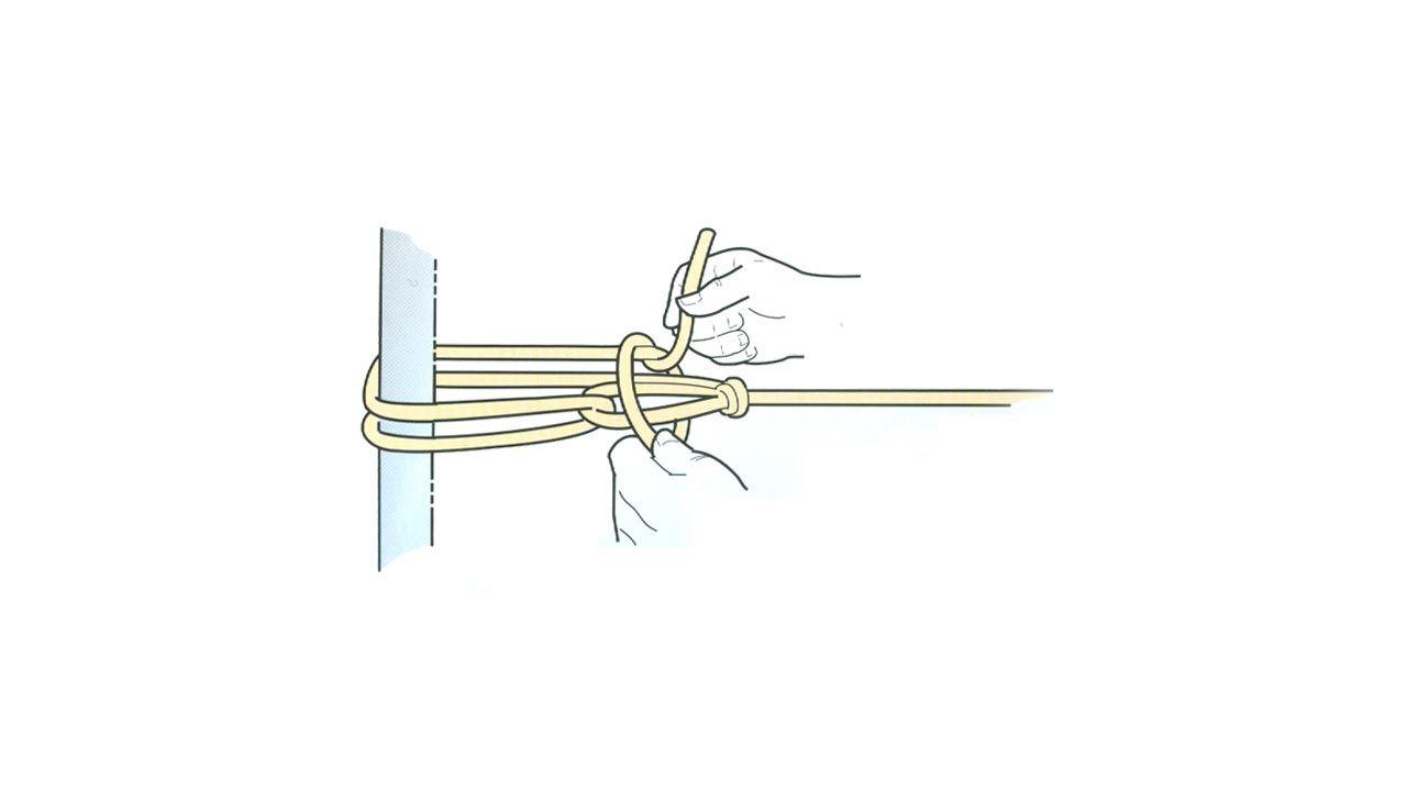 Cómo hacer un nudo para la cuerda de tender la ropa - Paso 3