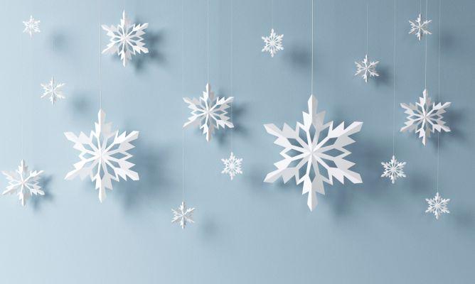 Copos de nieve de papel hogarmania - Copos de nieve manualidades ...