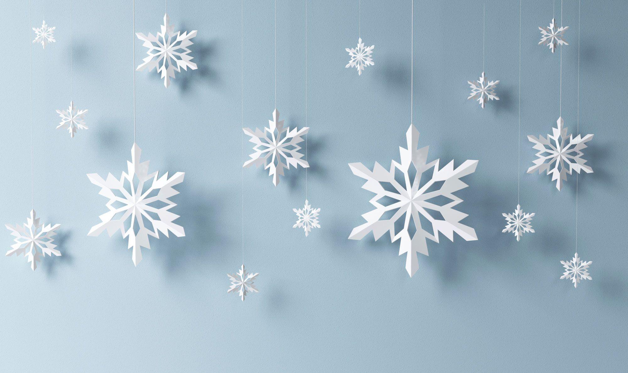 Copos de nieve de papel - Hogarmania