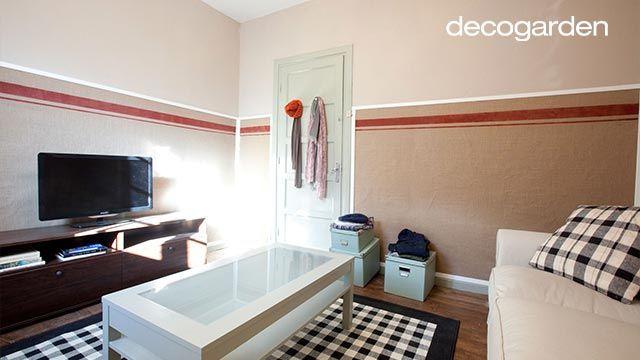 Decorar una sala de estar pequeña en tonos cálidos