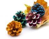 Piñas secas para decorar en Navidad