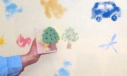Pintar con tampones de esponja - detalle
