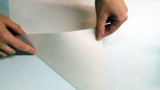 Copos de nieve de papel - Paso 1