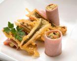 Receta de sabirón con rulos de jamón cocido