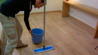 Paso 6 - Limpieza del suelo laminado