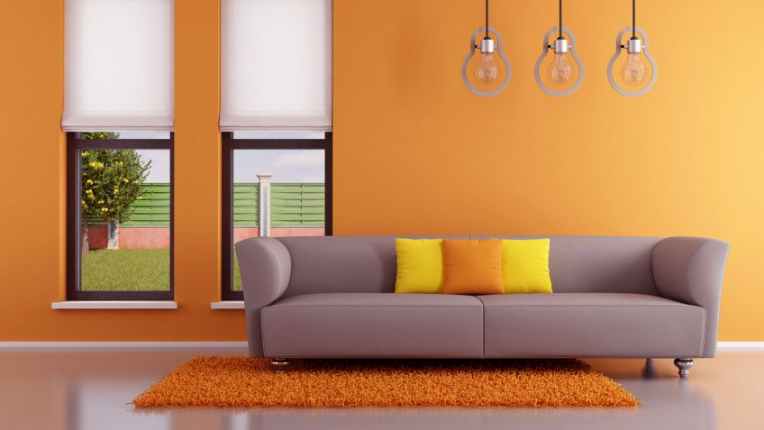 Decoración en color naranja - Hogarmania