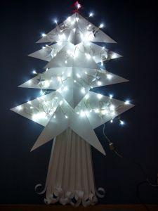 Pino Origami - Concurso decoración navideña