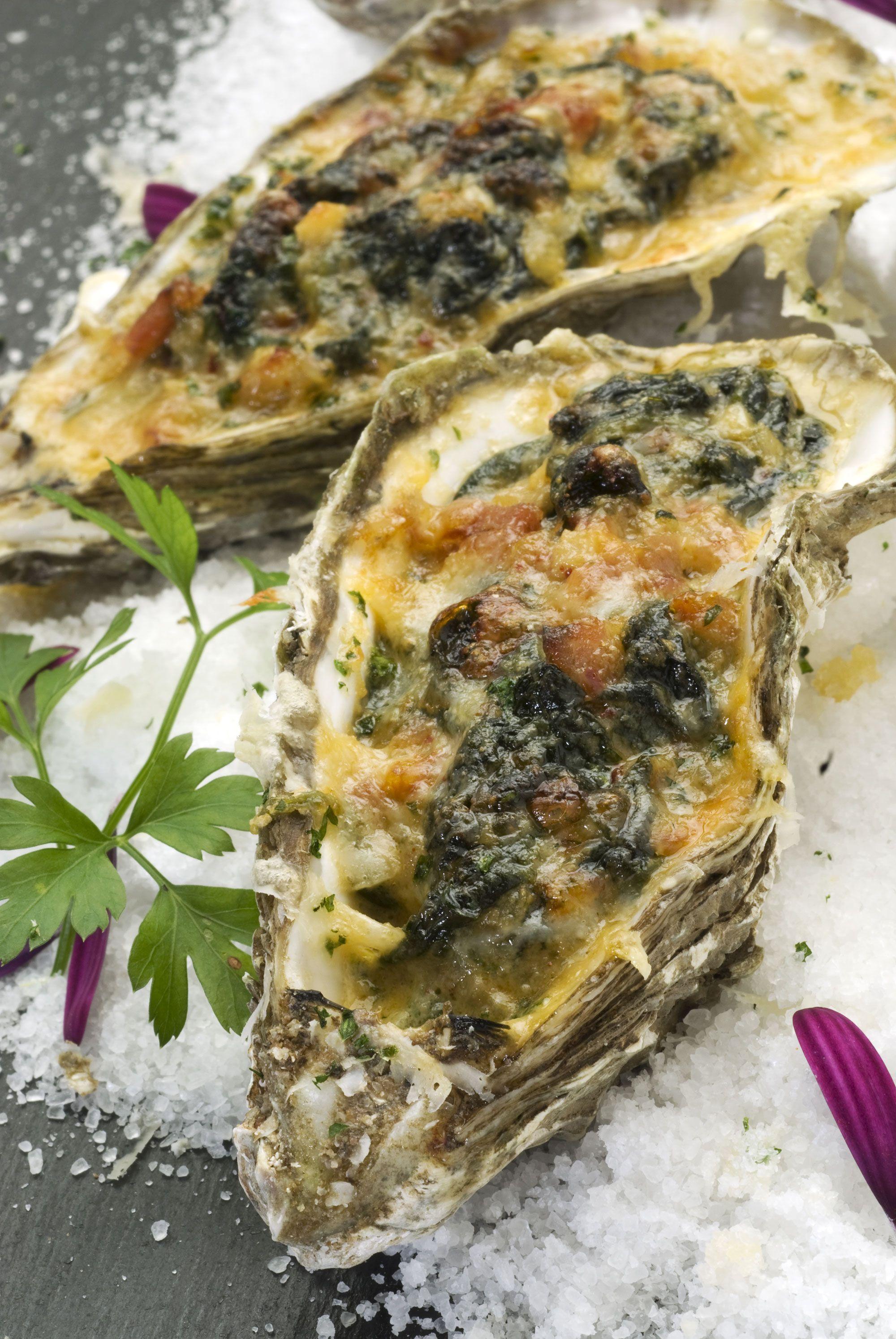 Receta de ostiones a la rockefeller estados unidos for Cocinar ostras