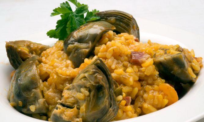 Receta de arroz con alcachofas y jam n karlos argui ano - Arroz con alcachofas y jamon ...