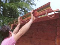 Instalación de un canalón