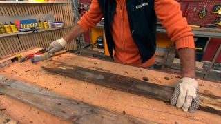 Preparar un palé para reciclar
