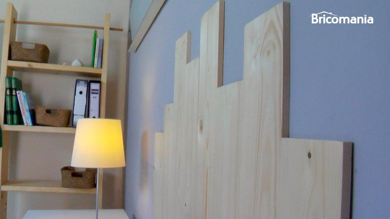 Ideas para hacer cabeceros con listones de madera bricoman a - Hacer cabecero de madera ...