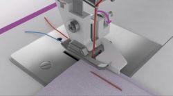 coser dobladillos con máquina de coser - ajustar guía
