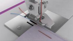 coser dobladillos con máquina de coser - colocar tela