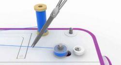 coser servilletas con máquina de coser - paso 1