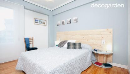 Dormitorio elegante y acogedor decogarden - Habitaciones con friso ...