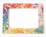 Hacer un marco con mosaico de vidrios