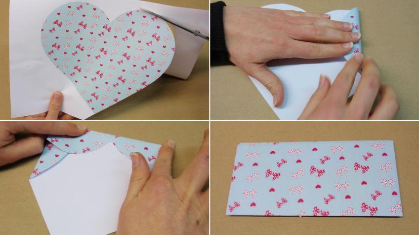 Hacer un sobre con un corazón para San Valentín - Hogarmania